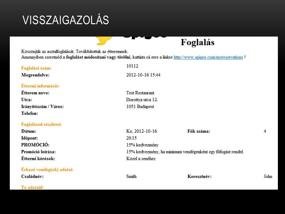 VISSZAIGAZOLÁS