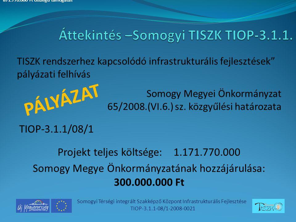 Somogyi Térségi integrált Szakképző Központ Infrastrukturális Fejlesztése TIOP-3.1.1-08/1-2008-0021 Somogy Megyei Önkormányzat 65/2008.(VI.6.) sz.
