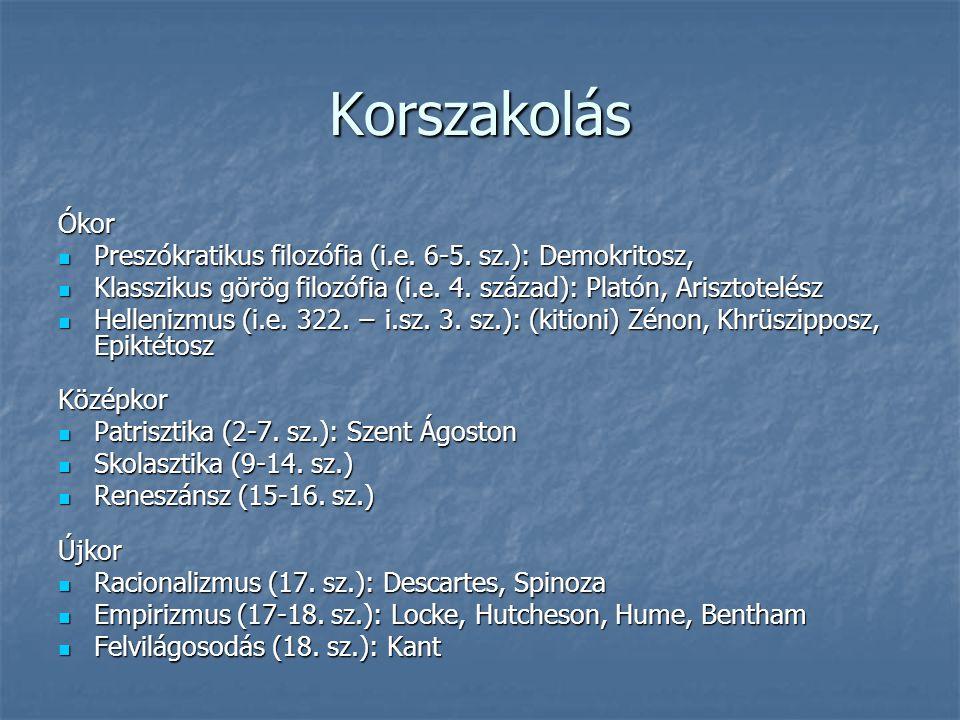 Korszakolás Ókor Preszókratikus filozófia (i.e.6-5.