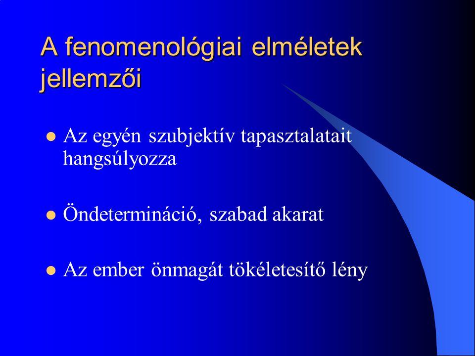 Az autonómiára való törekvés - autonómia/heteronómia arány emelése - az autonóm tendencia kifejeződései - az autonómia zavarai