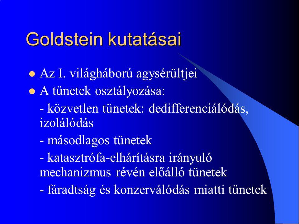 Goldstein kutatásai Az I.