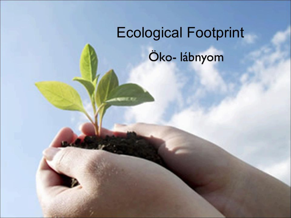 Ecological Footprint Öko- lábnyom