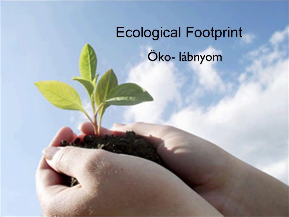 Ecological Footprint Öko- lábnyom