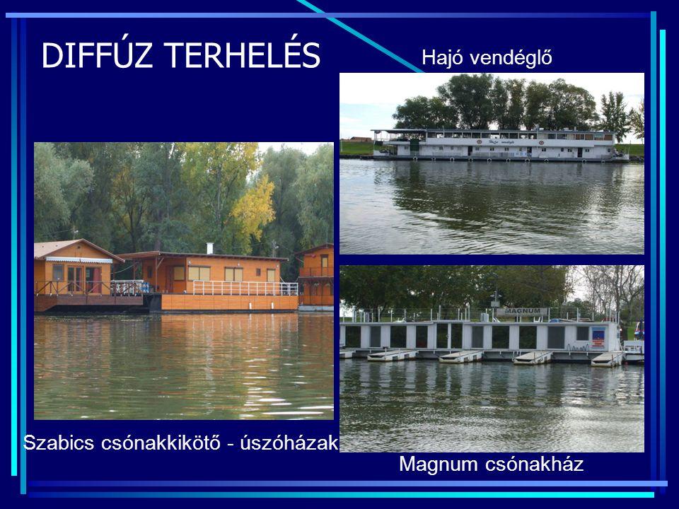 DIFFÚZ TERHELÉS Szabics csónakkikötő - úszóházak Magnum csónakház Hajó vendéglő