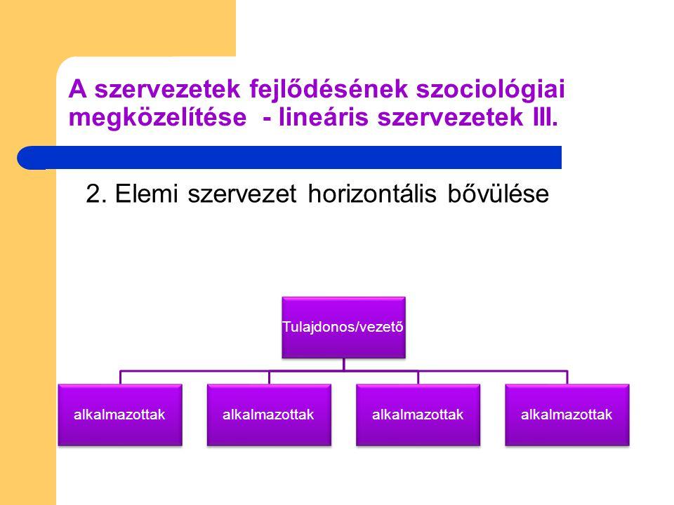 Tulajdonos/vezető Középvezető alkalmazottak 3.