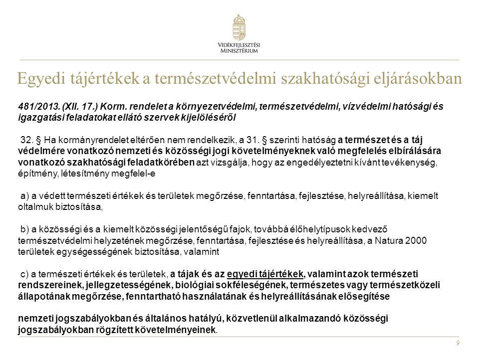 9 481/2013. (XII. 17.) Korm. rendelet a környezetvédelmi, természetvédelmi, vízvédelmi hatósági és igazgatási feladatokat ellátó szervek kijelöléséről