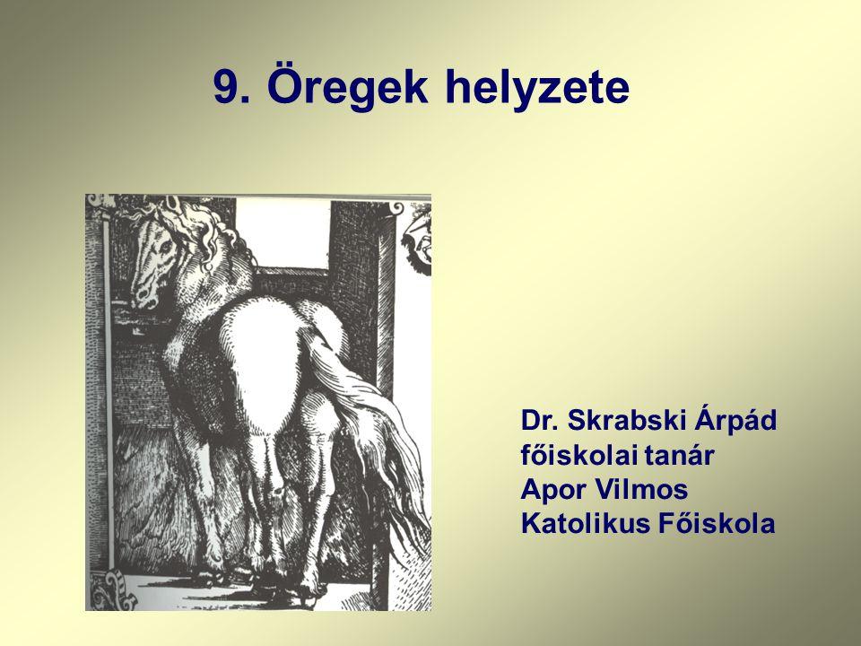 9. Öregek helyzete Dr. Skrabski Árpád főiskolai tanár Apor Vilmos Katolikus Főiskola