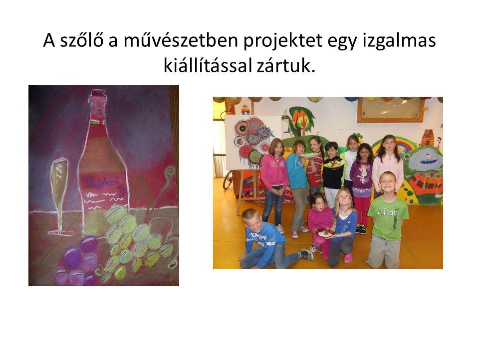 A szőlő a művészetben projektet egy izgalmas kiállítással zártuk.