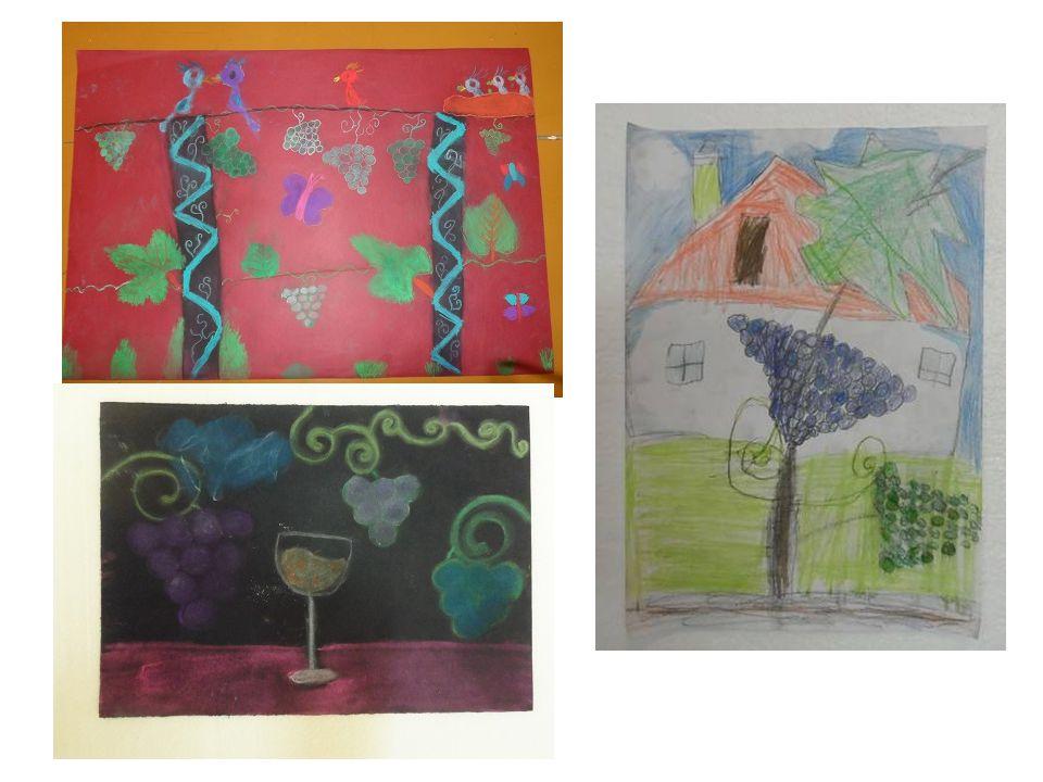 A grafikai tanszak tanulói szőlő alapos rajzi megfigyelésével foglalkoztak, majd ezeket továbbfejlesztették, felhasználták különböző grafikai tervezéseknél.