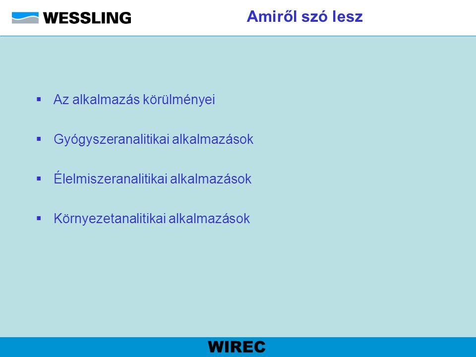 Eszköztár WIREC