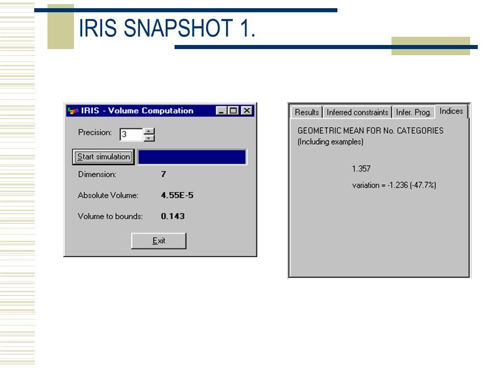 IRIS SNAPSHOT 1.