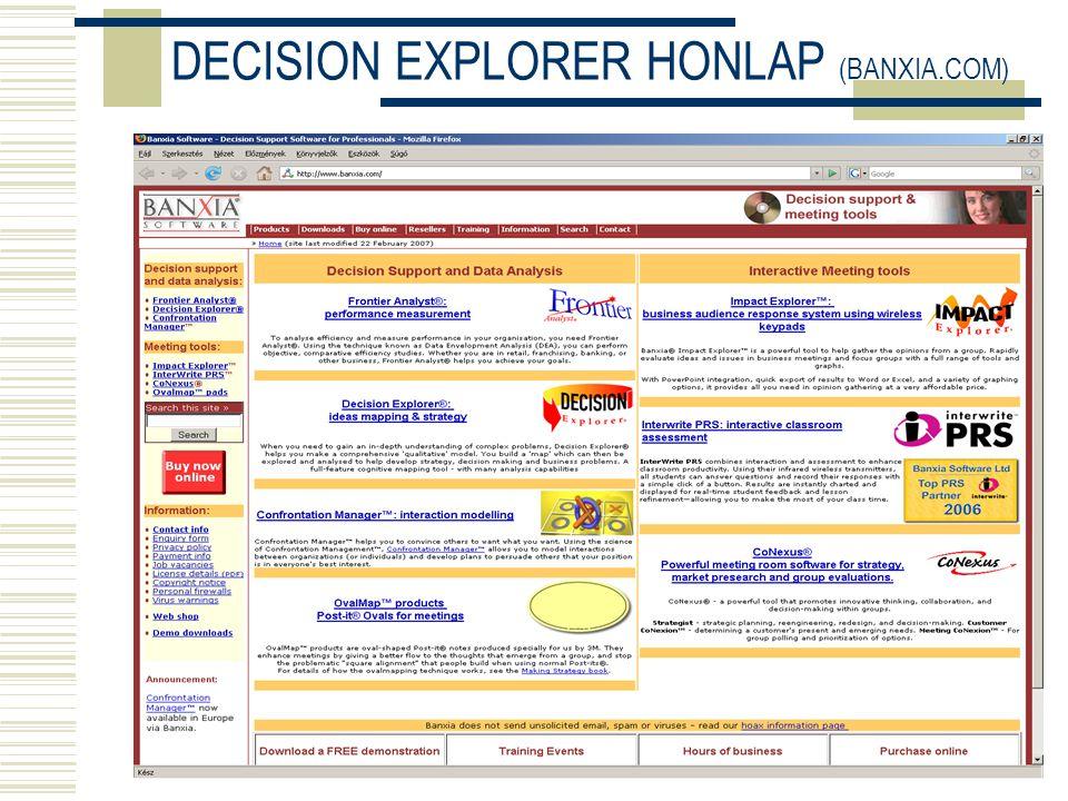 DECISION EXPLORER HONLAP (BANXIA.COM)