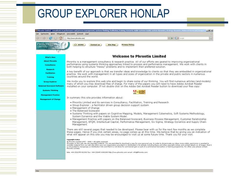 GROUP EXPLORER HONLAP