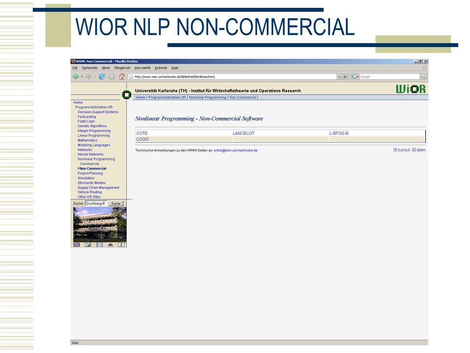 WIOR NLP NON-COMMERCIAL