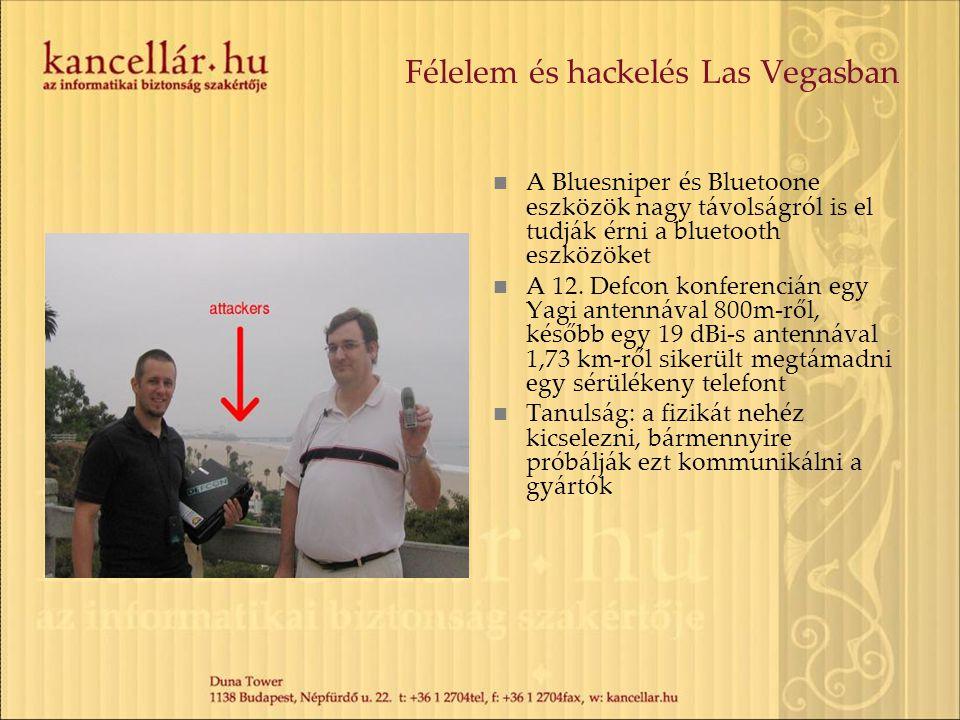 Félelem és hackelés Las Vegasban A Bluesniper és Bluetoone eszközök nagy távolságról is el tudják érni a bluetooth eszközöket A 12. Defcon konferenciá