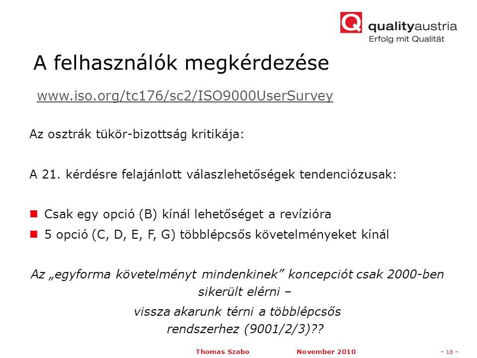 Thomas Szabo November 2010- 18 - Az osztrák tükör-bizottság kritikája: A 21.