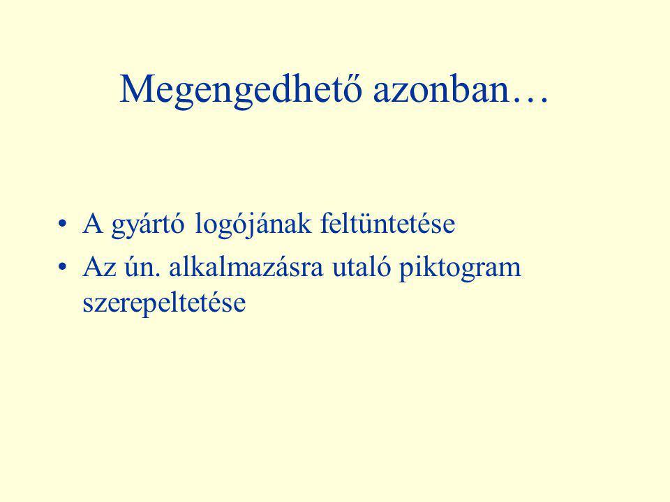 """A gyógyszer azonosítását szolgáló ábrák (""""gyógyszerlogók"""") tehát nem fogadhatók el (még a legegyszerűbbek sem!) Abcde 25mg kapszula Fghijk 50mg tablet"""