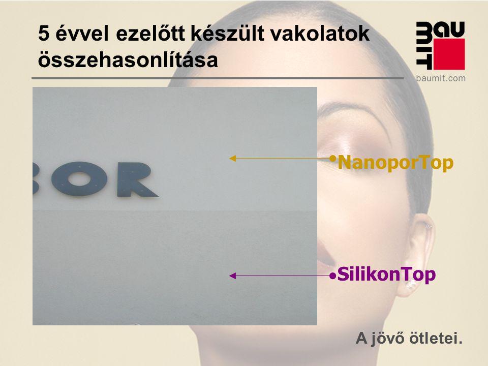 A jövő ötletei. NanoporTop SilikonTop 5 évvel ezelőtt készült vakolatok összehasonlítása