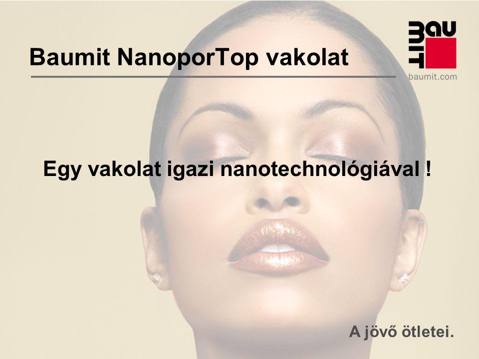 A jövő ötletei. Baumit NanoporTop vakolat Egy vakolat igazi nanotechnológiával !
