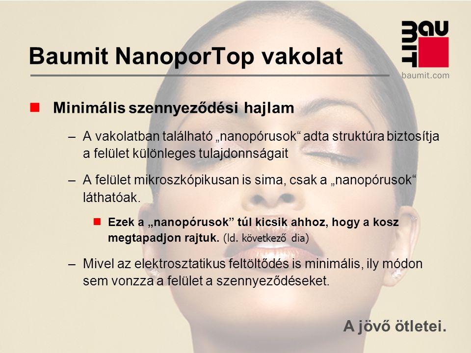 """A jövő ötletei. Baumit NanoporTop vakolat Minimális szennyeződési hajlam –A vakolatban található """"nanopórusok"""" adta struktúra biztosítja a felület kül"""