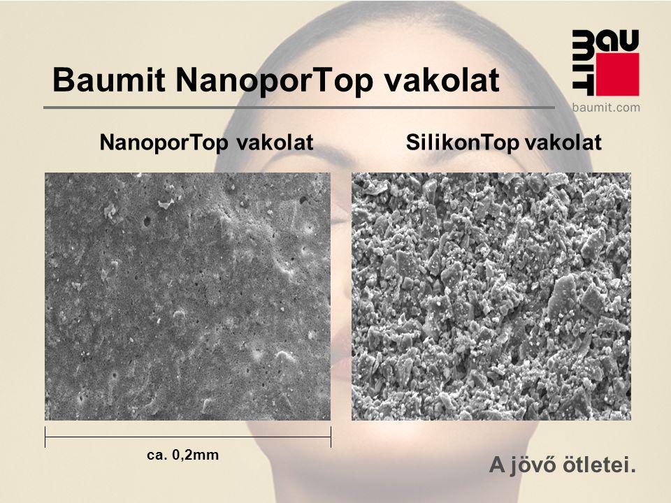 A jövő ötletei. Baumit NanoporTop vakolat NanoporTop vakolatSilikonTop vakolat ca. 0,2mm