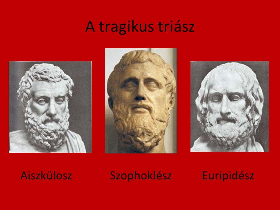 A tragikus triász AiszküloszSzophoklészEuripidész