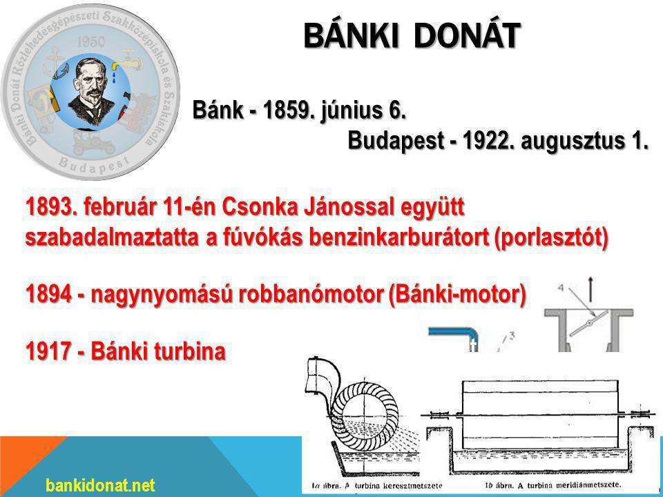 BÁNKI DONÁT bankidonat.net Bánk - 1859.június 6. Budapest - 1922.