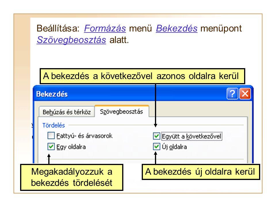 A szövegszerkesztők a szövegeket automatikusan oldalakra tördelik. Mit jelent ez? Ha azt akarjuk, hogy a szöveg egy oldalon szerepeljen, akkor oldaltö
