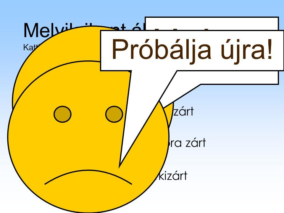 Sorkizárt: A szavak közötti szóközök hosszát megváltoztatja, így a szavak, mondatok a bal és a jobb behúzás között helyezkednek el. Balra zárt: A balr