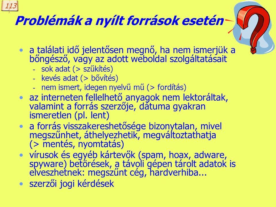 Készítette: B. László Könyvtárak az interneten 2. magyar internetes források katalógusa: www.webkat.hu virtuális könyvtárak (e-könyvtárak) - Magyar el