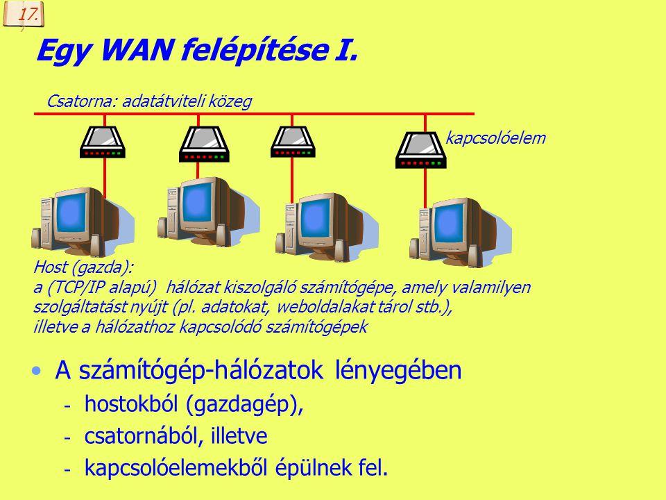 Készítette: B. László A LAN egy lehetséges felépítése Szerverek (kiszolgálók) kliensek (munkaállomások) hálózati kártya Csatorna: adatátviteli közeg