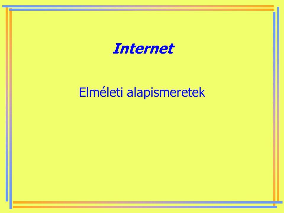 Készítette: B. László Felhasznált irodalom Adrew S. Tanenbaum: Számítógép-hálózatok. Panem-Prentice-Hall, 1999, Budapest. Bálint Dezső – Varga Gábor: