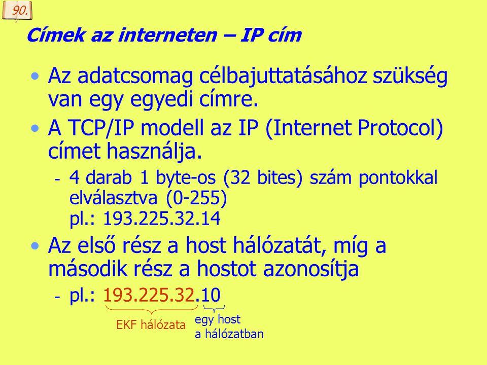 Készítette: B. László Az internet története 5. 1989. INTERNET lesz a hálózat neve, mivel az ARPANET támogatása megszűnik, az USA gerinchálózatához csa