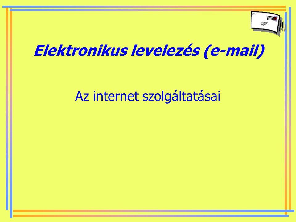 Készítette: B. László Az internet 7 ismert szolgáltatása internet ≠ World Wide Web ember-ember kommunikáció alapú szolgáltatások - közvetlen írásos ka