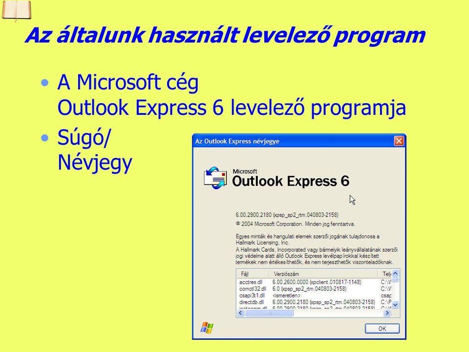 A levelező program Outlook Express