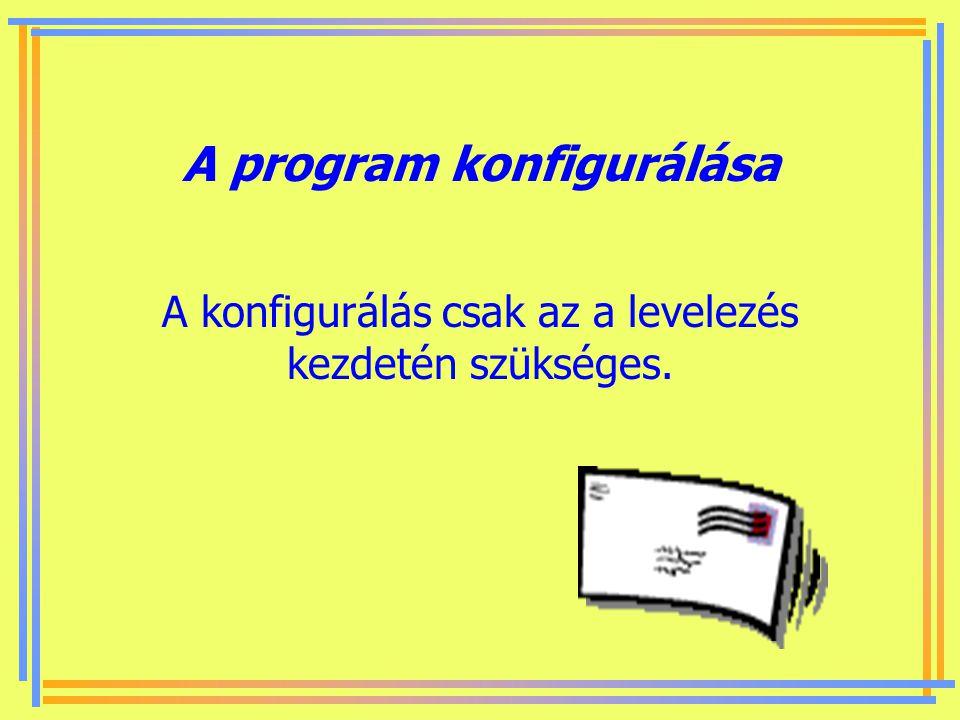 Készítette: B. László Műveletek a levéllel Levelező program konfigurálása - fiók beállítása Levelek fogadása - letöltés - olvasás Levelek megírása és