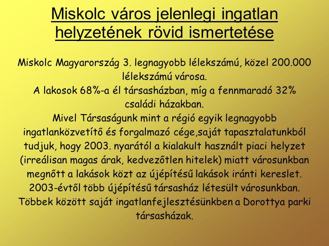 Miskolc város jelenlegi ingatlan helyzetének rövid ismertetése Miskolc Magyarország 3.