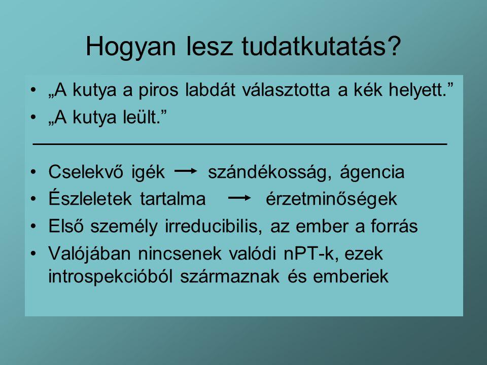 Az összehasonlító t.kut.