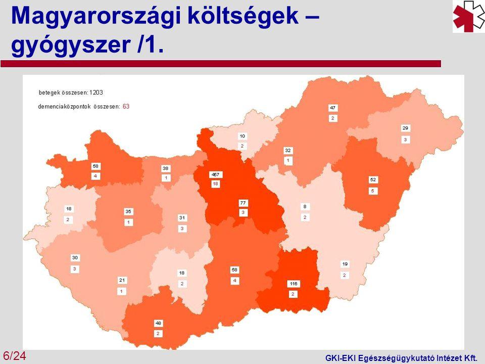 Magyarországi költségek – gyógyszer /2.7/24 GKI-EKI Egészségügykutató Intézet Kft.