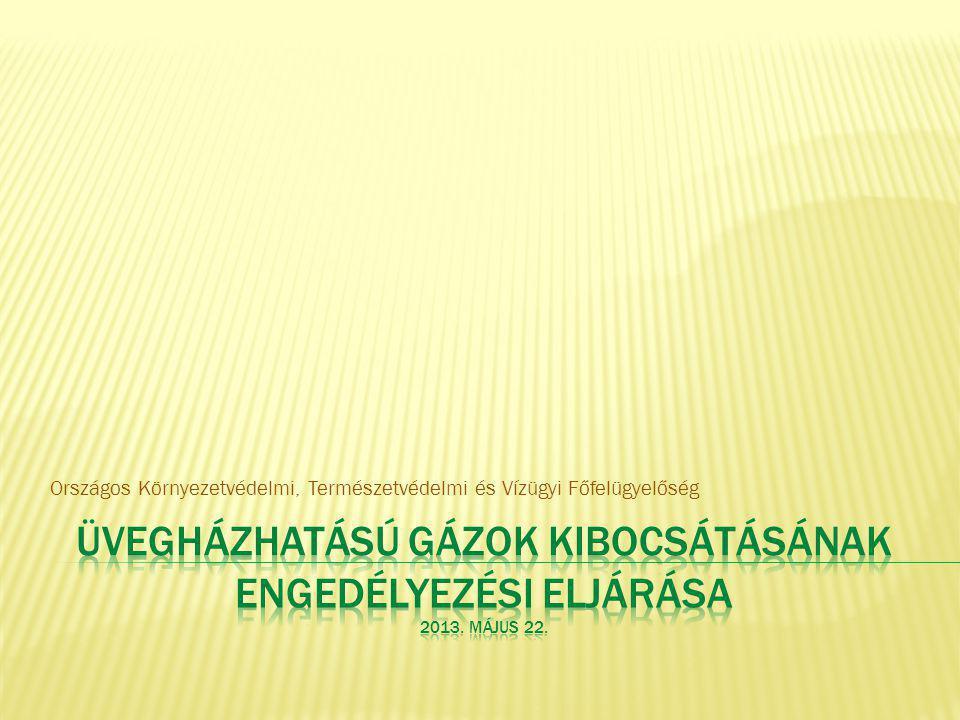Kibocsátási tényező A kibocsátási tényezőt tCO 2 /TJ (tüzelésből származó kibocsátások) vagy tCO 2 /t vagy tCO 2 /Nm 3 (technológiai kibocsátások) mértékegységben kell megadni.
