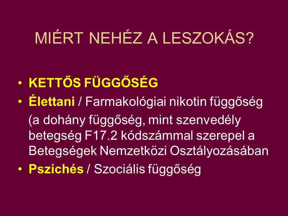 MIÉRT NEHÉZ A LESZOKÁS.