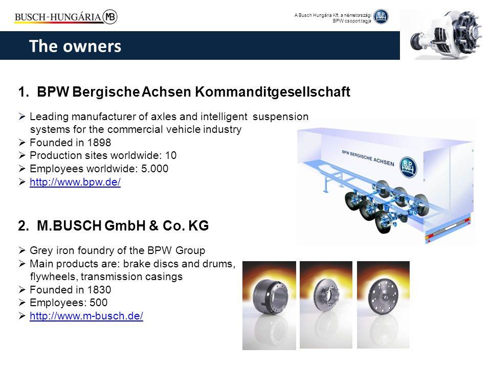 A Busch Hungária Kft. a németországi BPW csoport tagja 1. BPW Bergische Achsen Kommanditgesellschaft  Leading manufacturer of axles and intelligent s