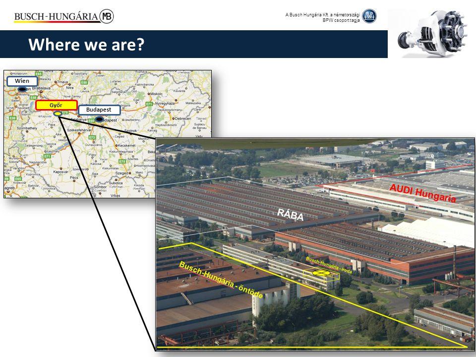 A Busch Hungária Kft. a németországi BPW csoport tagja Wien Budapest Győr Where we are?