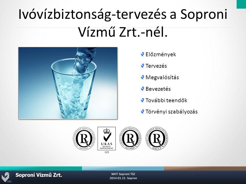 Ivóvízbiztonság-tervezés a Soproni Vízmű Zrt.-nél.