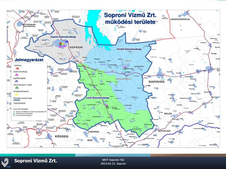Működési terület MHT Soproni TSZ 2014.01.21. Sopron