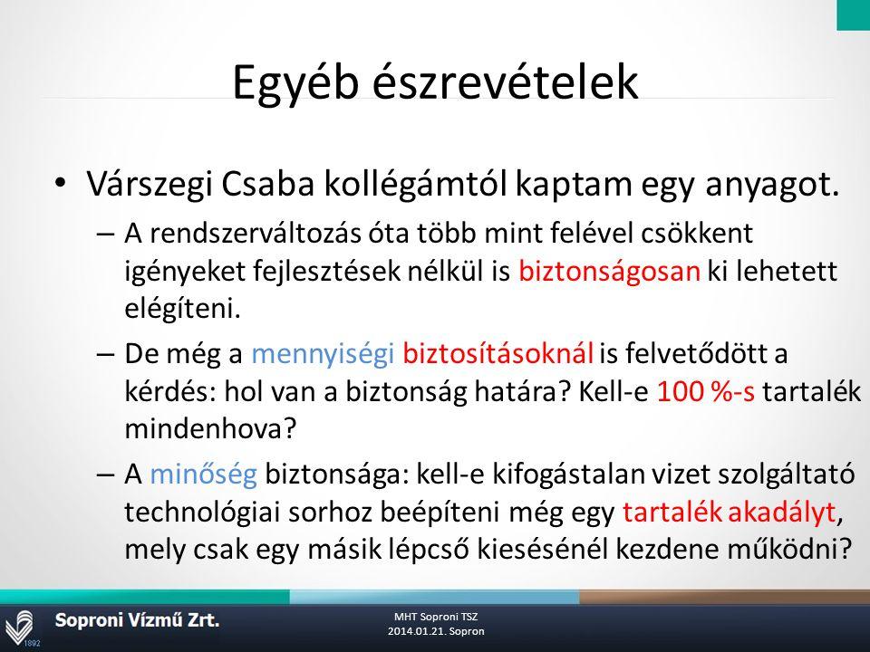 Egyéb észrevételek Várszegi Csaba kollégámtól kaptam egy anyagot.