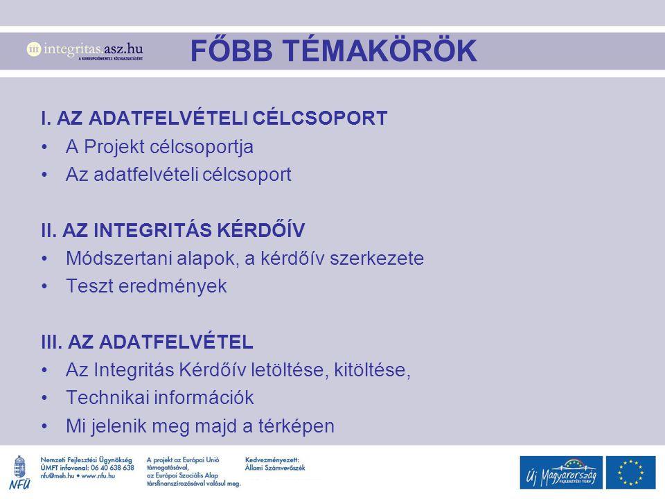 FŐBB TÉMAKÖRÖK I.