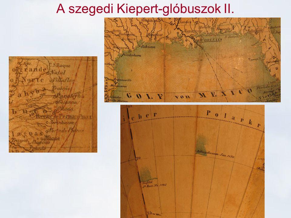 A szegedi Kiepert-glóbuszok II.