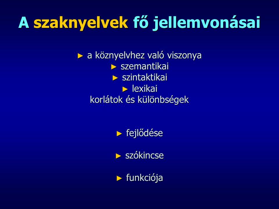 Felhasznált irodalom: ► Balázs Béla: A szaknyelv sajátosságai és a LEXINFO informatikai nyelvvizsgarendszer, Győr, LEXINFO Szakmai Nap, 2008.