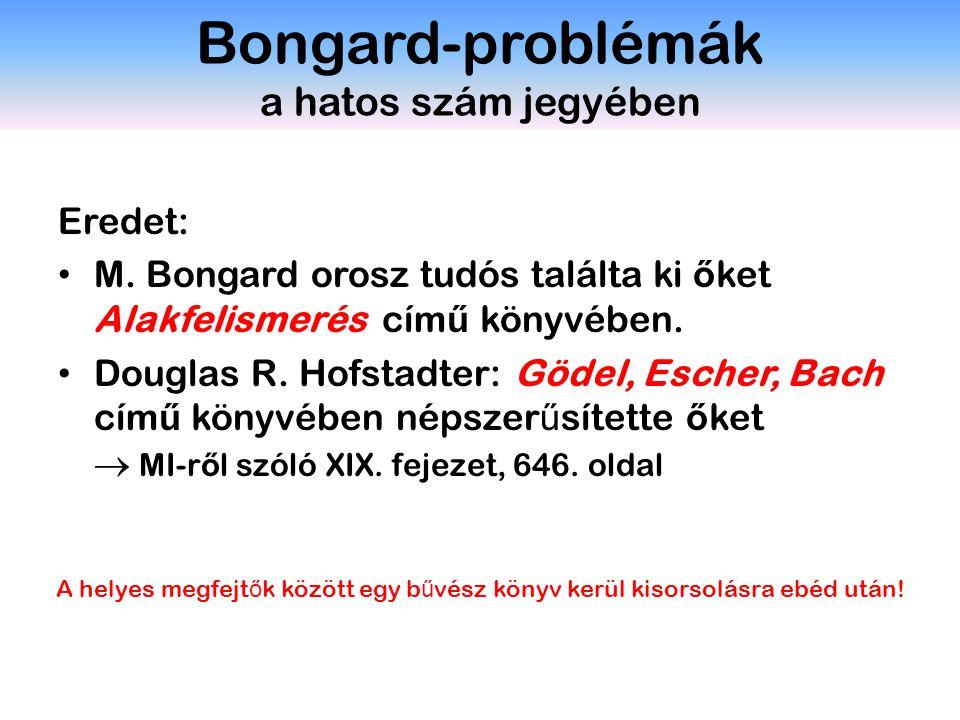 Eredet: M. Bongard orosz tudós találta ki ő ket Alakfelismerés cím ű könyvében. Douglas R. Hofstadter: Gödel, Escher, Bach cím ű könyvében népszer ű s